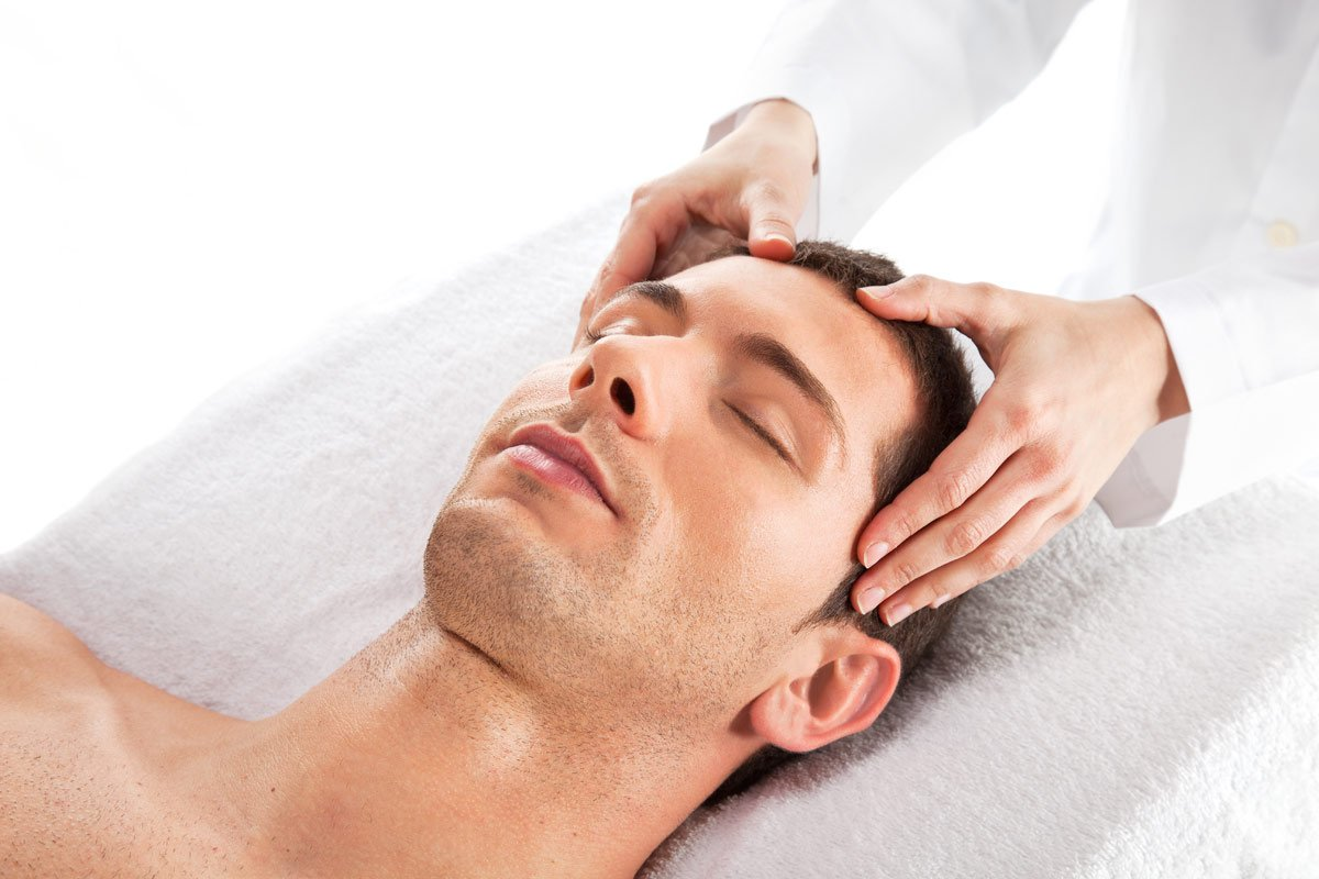 Were visited Indian facial massage